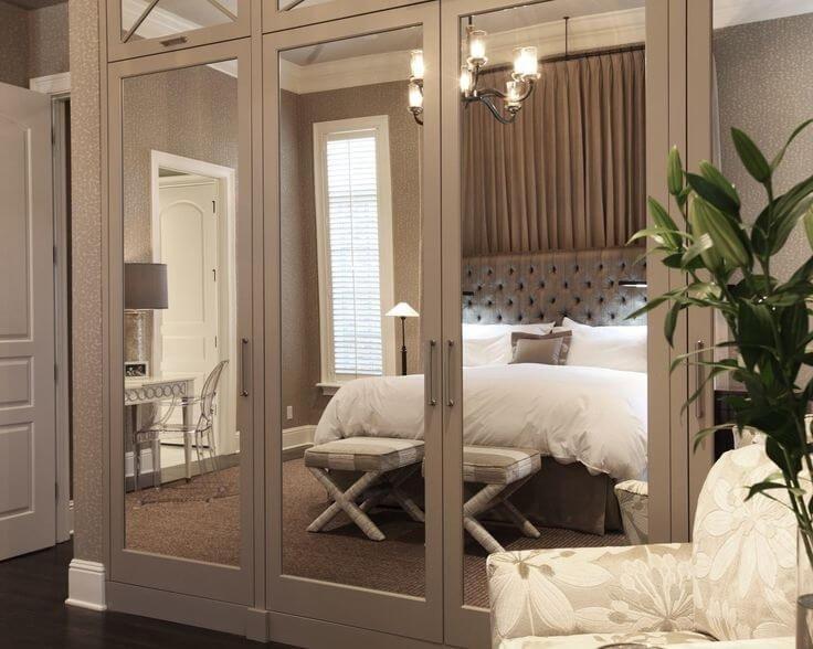 نقش آینه ها در اتاق خواب