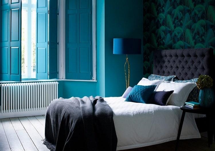 رنگ آبی برای اتاق خواب