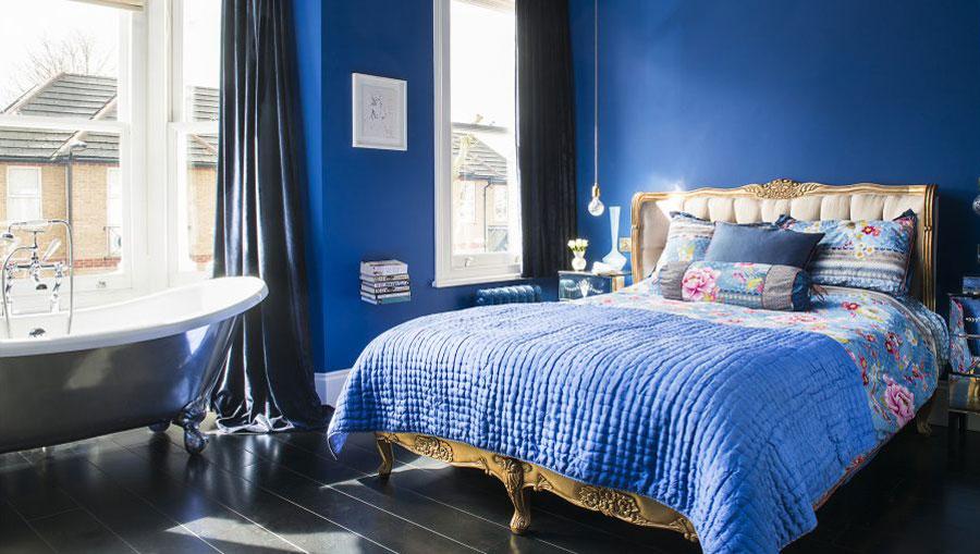 فضاهای متناسب با رنگ آبی