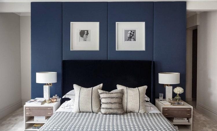 استفاده از آبی در اتاق خواب