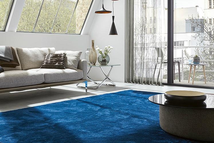 فرش آبی برای پذیزایی