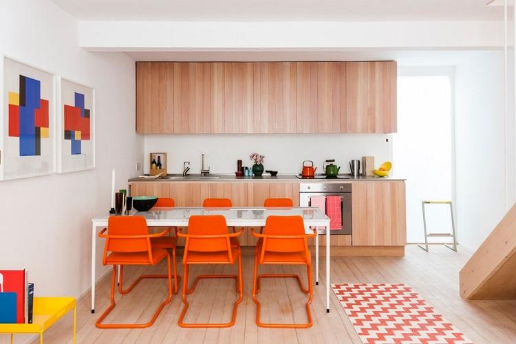 رنگ نارنجی برای غذاخوری