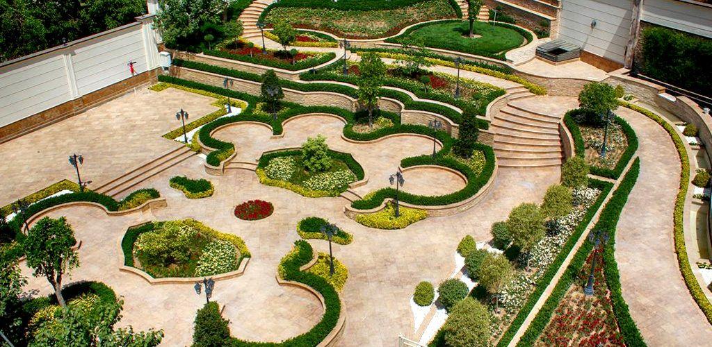 محوطه سازي باغ با ايده هاي بکر و مدرن