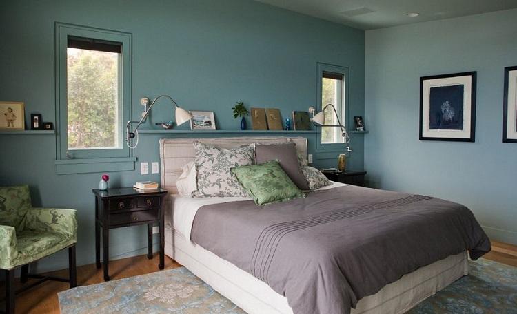 رنگهای سرد برای اتاق خواب