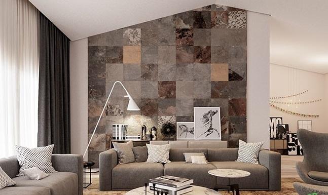طراحی دیوار با کاشی