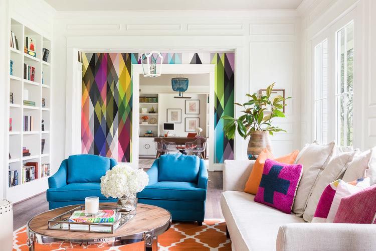 خانه رنگی رنگی زیبا